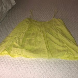 Neon yellow jcrew blouse
